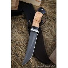 Outdoorový nůž VORSMA Slon, damašek, březová kůra, 155 mm