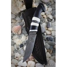 Outdoorový nůž VORSMA BODÁK, Damašek, laminovaný, černý habr,...
