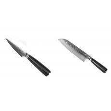 Nůž na ovoce a zeleninu Seburo SARADA Damascus 90mm + Santoku...