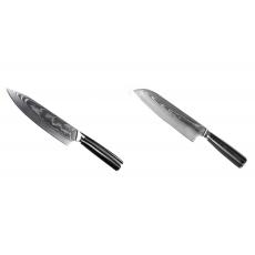 Šéfkuchařský nůž Seburo SARADA II Damascus 190mm + Santoku nůž...
