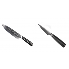 Šéfkuchařský nůž Seburo SARADA II Damascus 190mm + Nůž na ovoce...