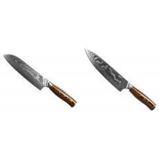 Santoku nůž Seburo SUBAJA II Damascus 190mm + Šéfkuchařský nůž...