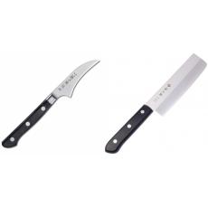 Japonský loupací nůž Tojiro Western 70mm + Japonský Nakiri nůž...