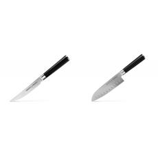 Steakový nůž Samura Mo-V (SM-0031), 120mm + Santoku nůž Samura...
