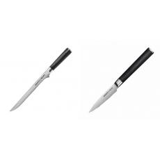 Filetovací nůž Samura Mo-V (SM-0048), 218 mm + Nůž na ovoce a...