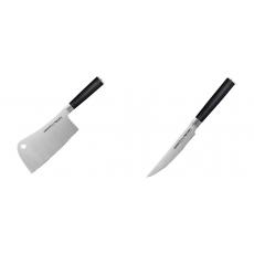Kuchařský nůž-sekáček Samura Mo-V (SM-0040), 180mm + Steakový...