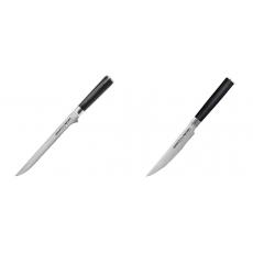 Filetovací nůž Samura Mo-V (SM-0048), 218 mm + Steakový nůž...