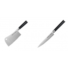 Kuchařský nůž-sekáček Samura Mo-V (SM-0040), 180mm + Univerzální...