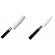 Wasabi Black Nakiri KAI 165mm + Univerzální nůž KAI Wasabi...