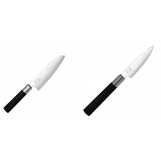 Santoku nůž KAI Wasabi Black (6716S), 165 mm + Univerzální nůž...