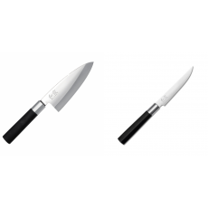 Vykosťovací nůž KAI Wasabi Black Deba, 155 mm + Steakový nůž KAI...
