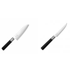 Santoku nůž KAI Wasabi Black (6716S), 165 mm + Steakový nůž KAI...