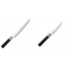 Plátkovací nůž KAI Wasabi Black, 230 mm + Steakový nůž KAI...