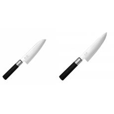 Santoku nůž KAI Wasabi Black (6716S), 165 mm + Malý šéfkuchařský...