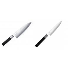Wasabi Black Deba KAI 210mm + Univerzální nůž KAI Wasabi Black...