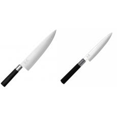 Wasabi Black Nůž šéfkuchaře velký KAI 230mm + Univerzální nůž...