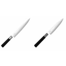 Plátkovací nůž KAI Wasabi Black, 230 mm + Univerzální nůž KAI...