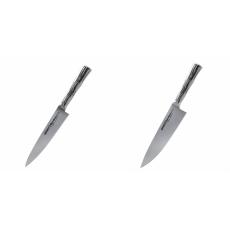 Univerzální nůž Samura Bamboo (SBA-0021), 125 mm + Šéfkuchařský...