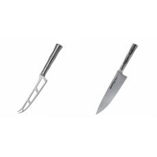 Nůž na sýr Samura Bamboo (SBA-0022), 135 mm + Šéfkuchařský nůž...