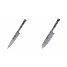 Univerzální nůž Samura Bamboo (SBA-0021), 125 mm + Malý Santoku...