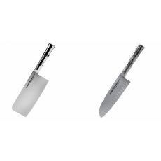 Kuchyňský nůž-sekáček Samura Bamboo (SBA-0040), 180 mm + Santoku...
