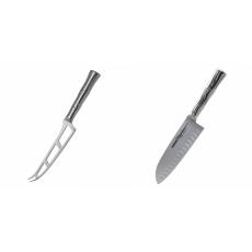 Nůž na sýr Samura Bamboo (SBA-0022), 135 mm + Santoku nůž Samura...