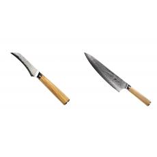 Loupací nůž Seburo HOKORI Damascus 90mm + Šéfkuchařský nůž...