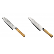 Santoku nůž Seburo HOKORI Damascus 180mm + Šéfkuchařský nůž...