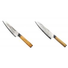 Šéfkuchařský nůž Seburo HOKORI EDGE Damascus, 155mm +...
