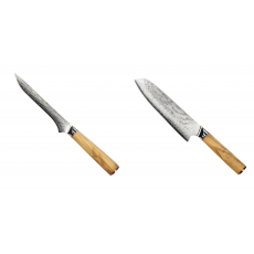 Vykosťovací nůž Seburo HOKORI Damascus 130mm + Santoku nůž...