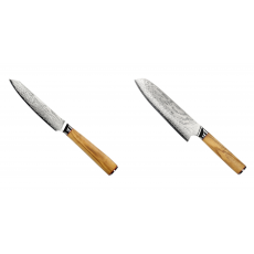 Univerzální nůž Seburo HOKORI EDGE Damascus 130mm + Santoku nůž...
