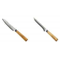 Univerzální nůž Seburo HOKORI EDGE Damascus 130mm + Vykosťovací...